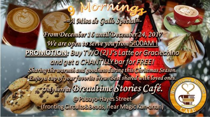 breadtime stories cafe 9 mornings
