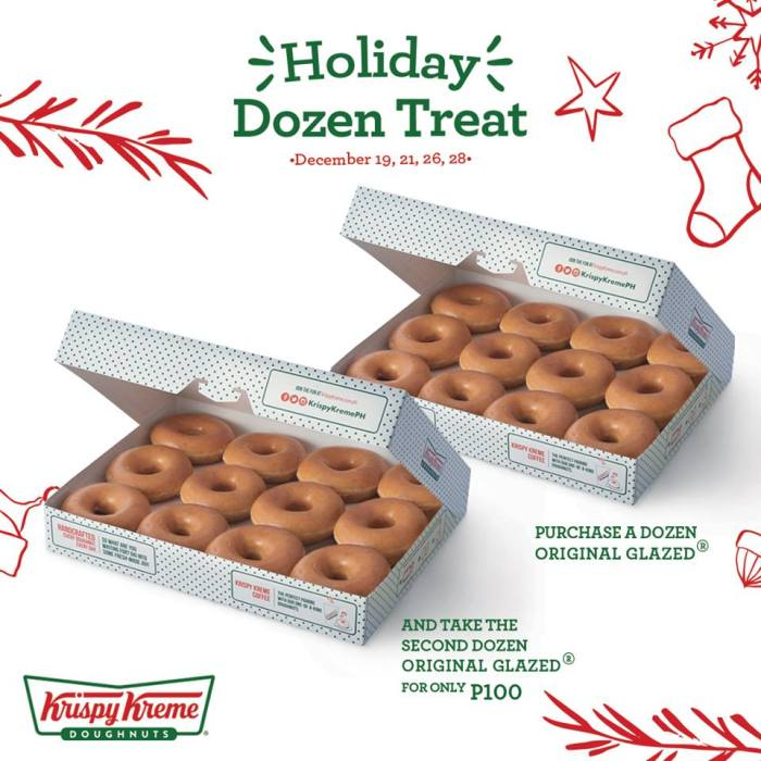 krispy kreme holiday dozen treat