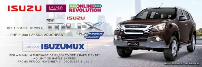 Lazada get a chance to win MUX and Voucher