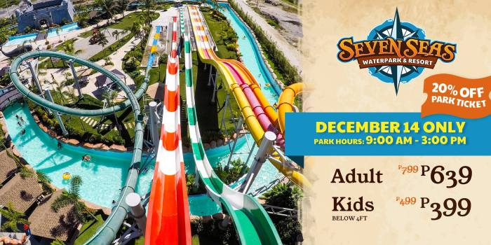 Seven Seas water park 20% off