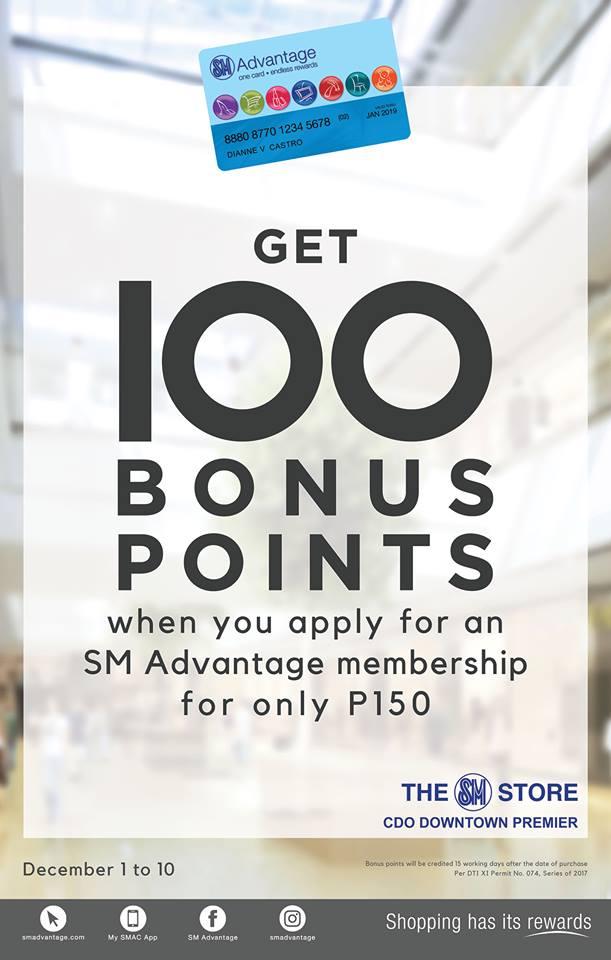 SM advantage 100 points