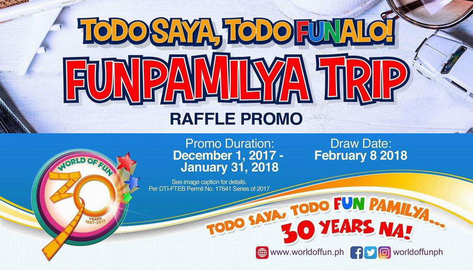 World of Fun Funpamilya Trip Raffle Promo | CDO Promos