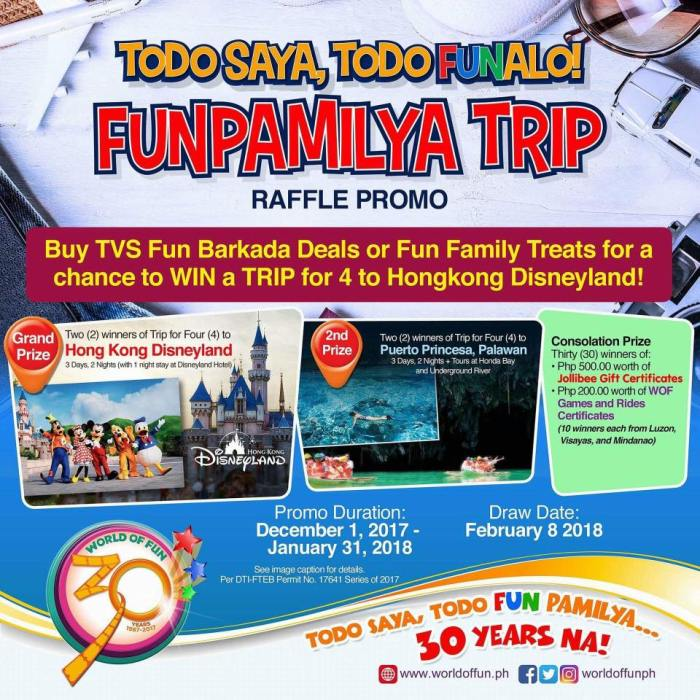 World of Fun Funpamilya Trip Raffle Promo
