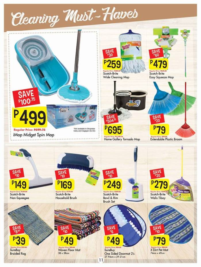 Shopwise cleaning must haves