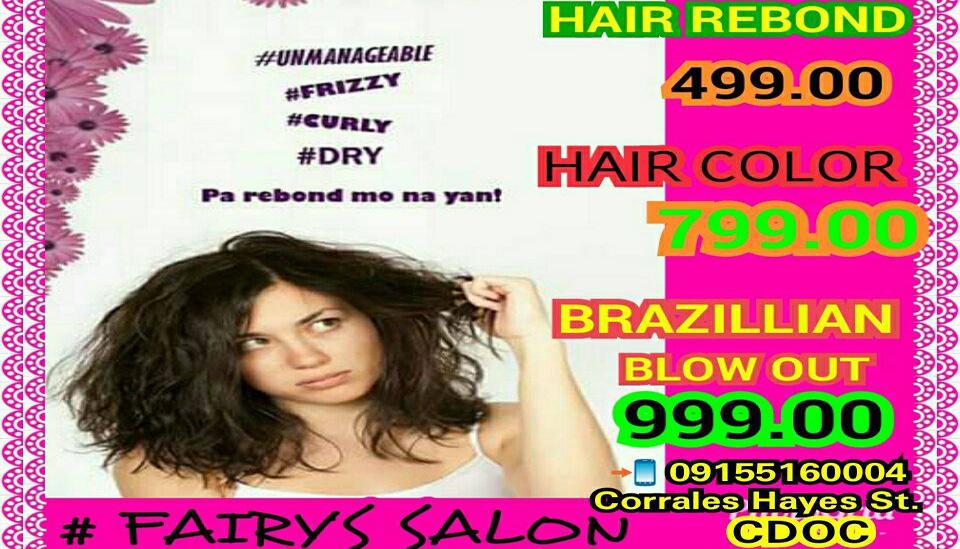 Fairys Salon Hair Rebond And Other Promos Cdo Promos