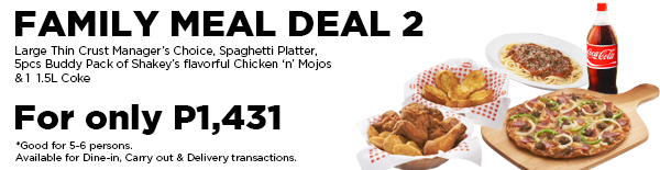 Shakey's 2018 meal deal - family meal deal 2
