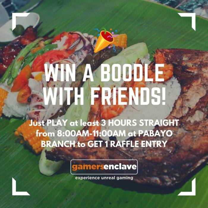 gamers enclave win a boodle