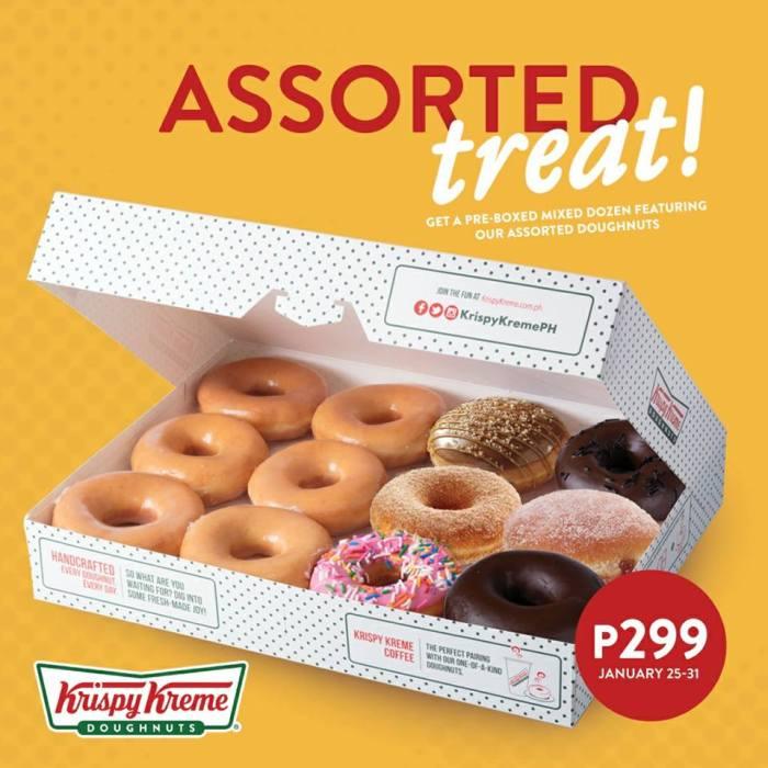 Krispy kreme assorted treat january2018