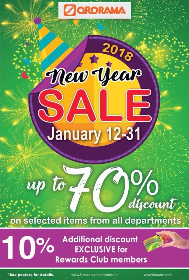 Ororama new year sale