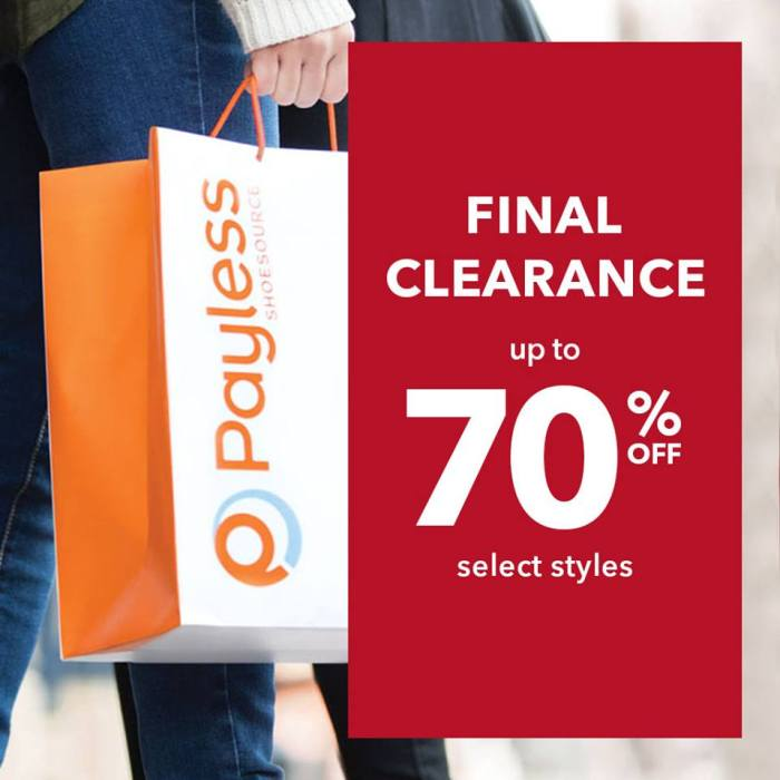 Payless final clearance sale