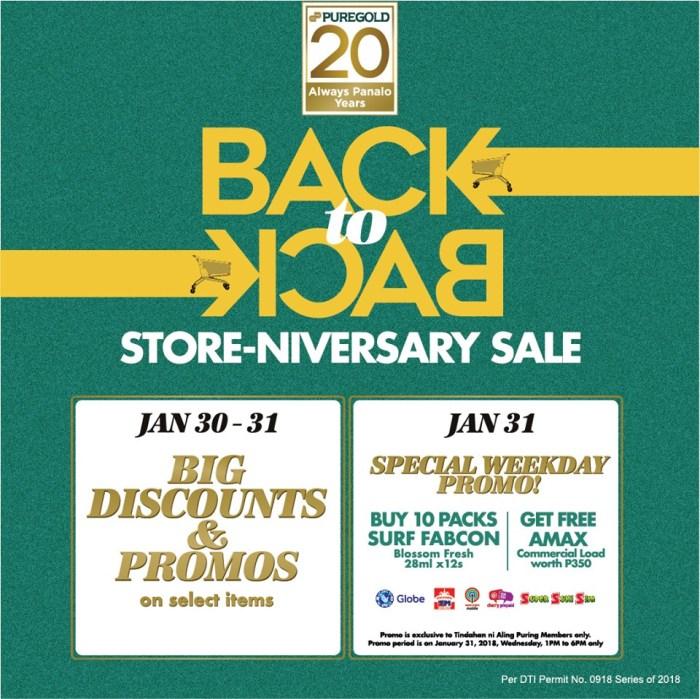 puregold store-niversary sale