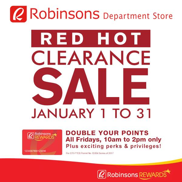 robinsons red hot clearance sale