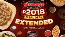 shakeys meal deal extended FI