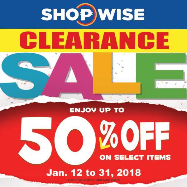 shopwise clearance sale