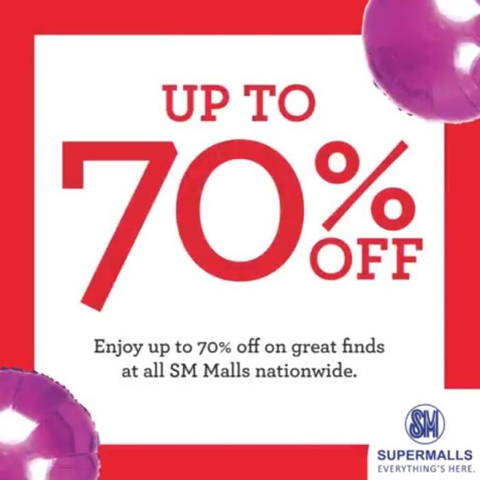 sm supermalls end of season sale 70percent off