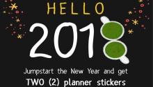 starbucks 2 planner stickers FI