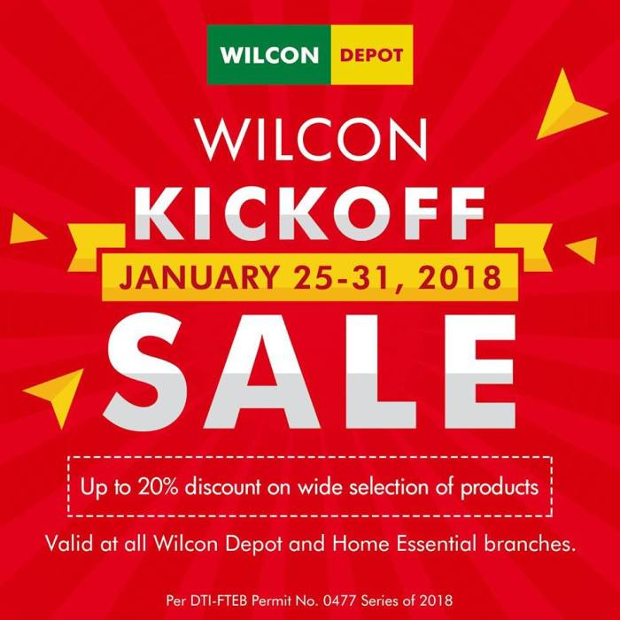 Wilcon Depot kickoff sale