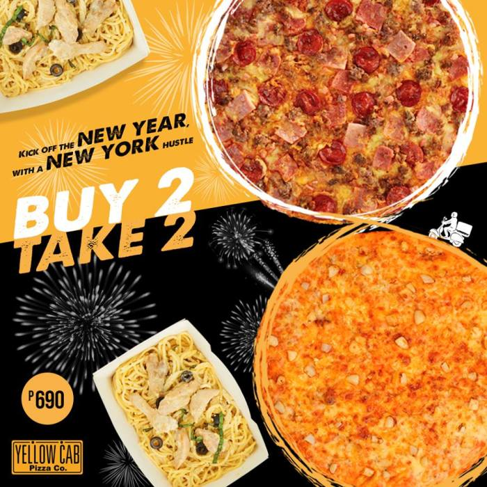 yellow cab buy 2 take 2 pizza