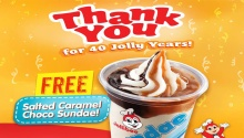 40 Jolly Years Free Salted Caramel Choco Sundae FI