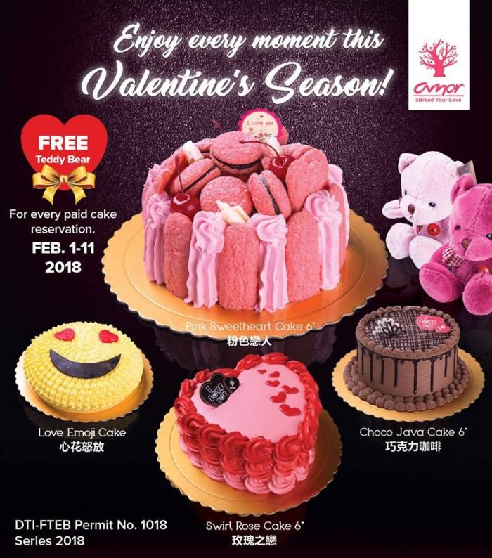 Amor Bakery free teddy bear