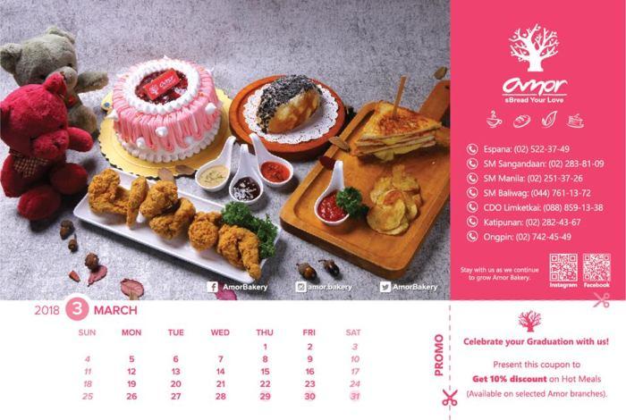 Amor Bakery graduation coupon