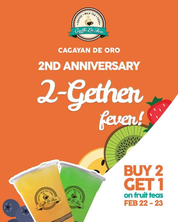 caffe la Tea 2nd anniversary promo