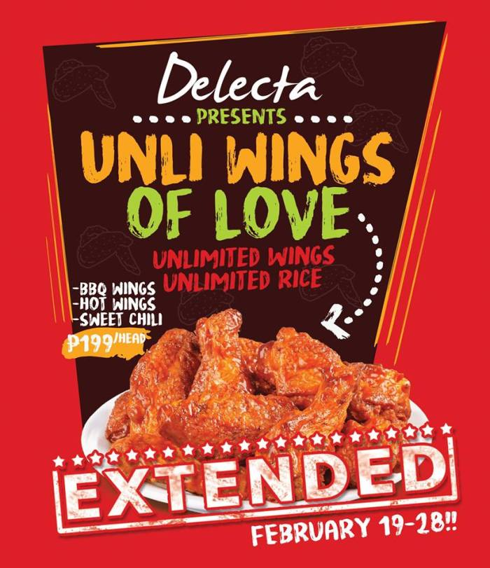 delecta unli wings of love extended