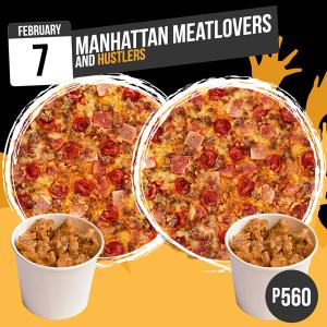 feb7 manhattan meatlovers cheese and hustlers