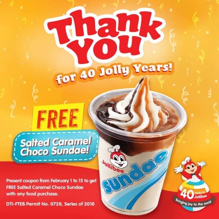 Free Salted Caramel Choco Sundae 40 Jolly Years