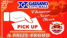 Gaisano City Mall Pick up a Prize Promo FI