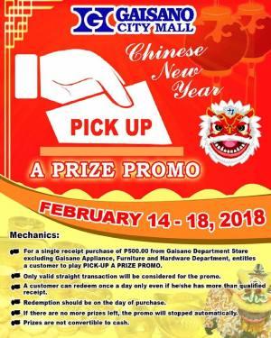 Gaisano City Mall Pick up a Prize Promo