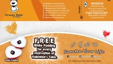 honey bear free pudding and P150 discount FI