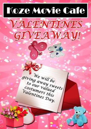 Koze movie cafe valentines giveaway