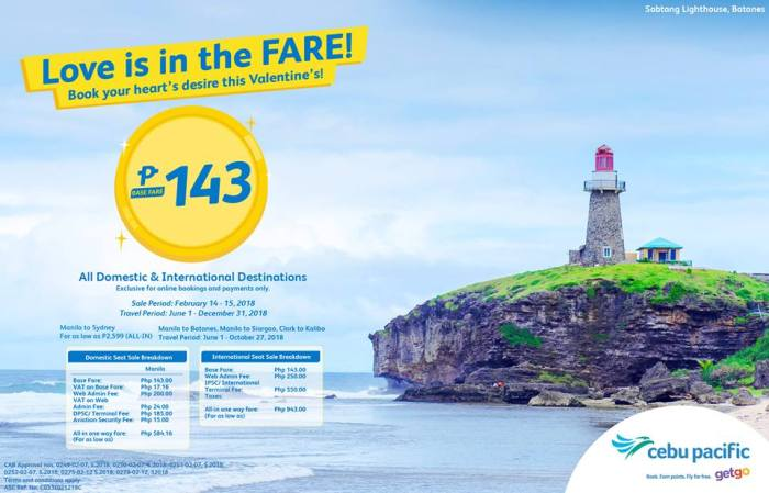 Cebu Pacific love is in the fare