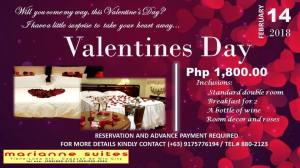 Marianne Suites valentines day promo