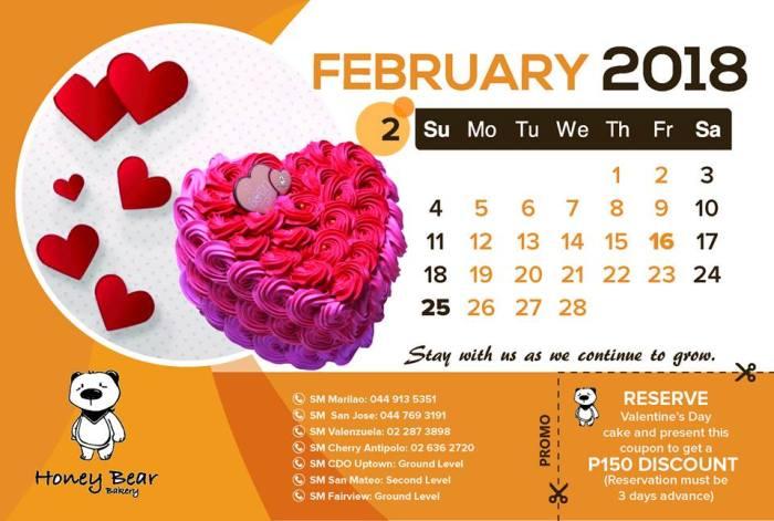 P150 discount Honey Bear valentines cake