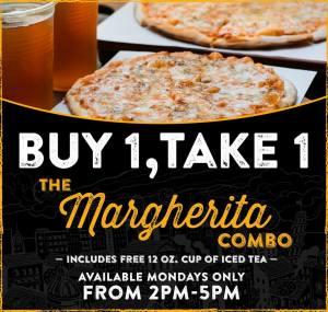 Pizza Republic Buy 1 Take 1 on the Margherita Combo
