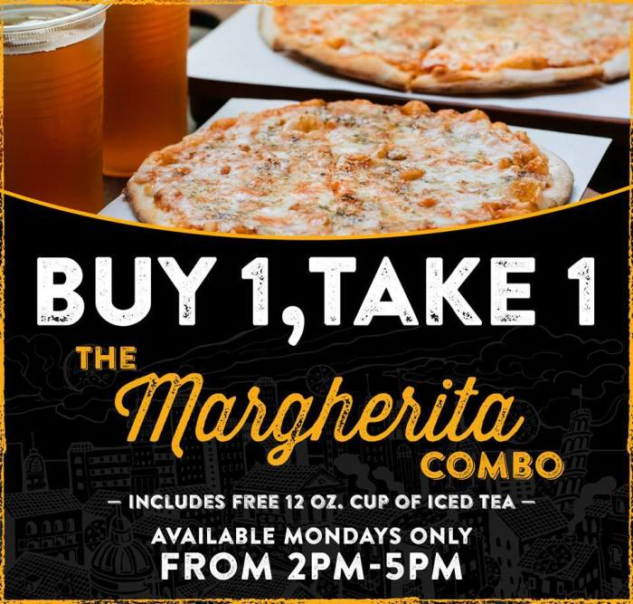 Pizza Republic Buy 1 Take 1 on the Margherita Combo