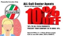 Pizzarella CDO 10percent off to call center agents FI