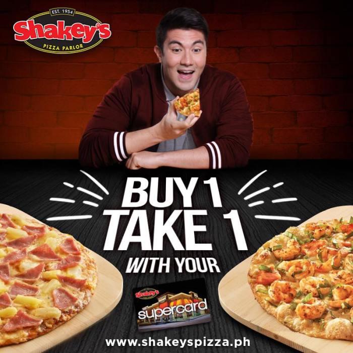Shakeys buy 1 take 1 Louisiana Shrimp Pizza