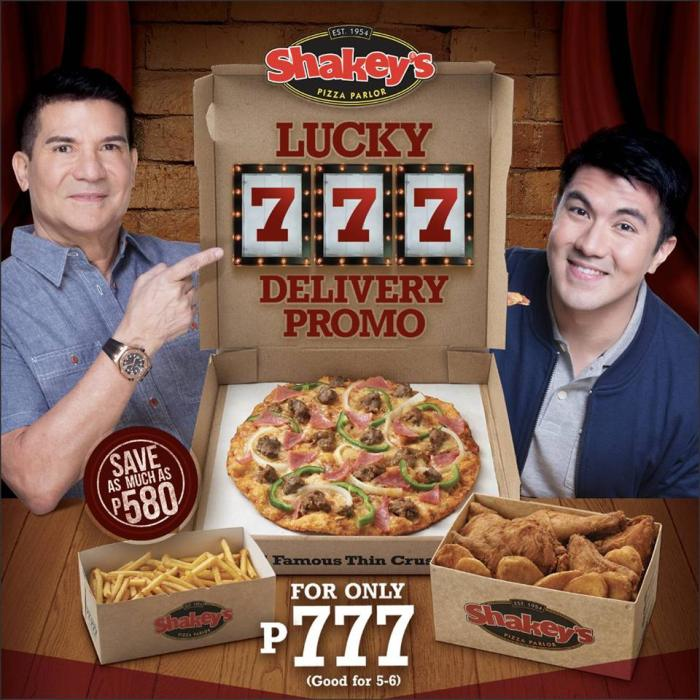 shakeys lucky 7777 delivery promo