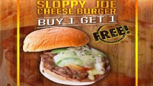 nic's pizza sloppy joe burger buy 1 take 1 FI