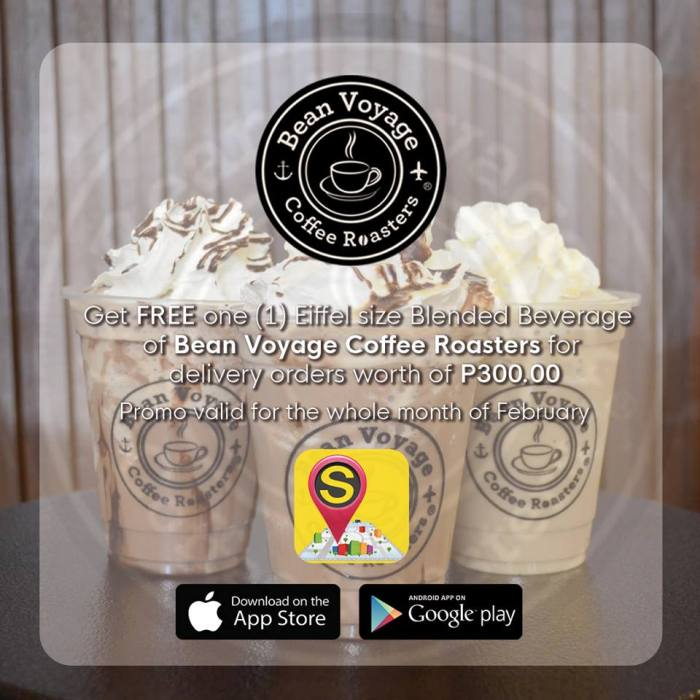 Get FREE Eiffel Size Blended Beverage from Bean Voyage Coffee Roasters using Streetby