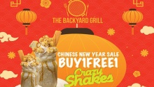 The BackYardGrill buy 1 free 1 Crazy Shakes FI