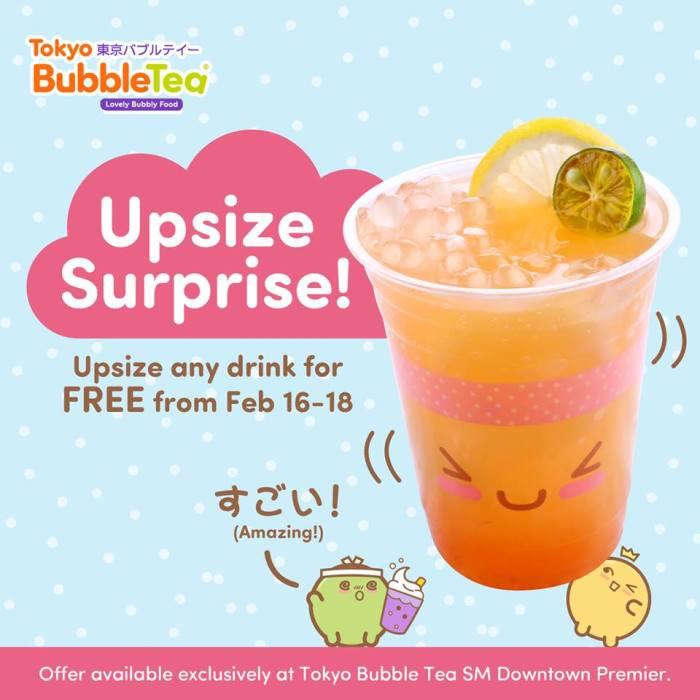 Tokyo Bubble Tea Upsize Surprise