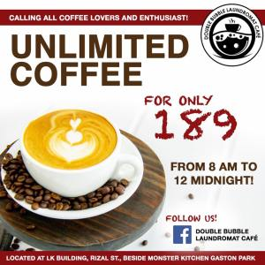 Unlimited Coffee for P189 only