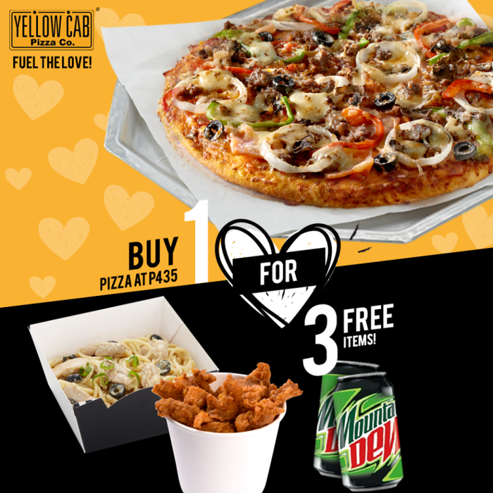 YellowCab Buy 1 for 3