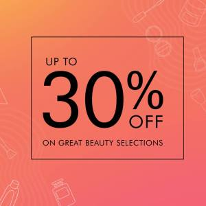 What Women Want 30% off on great beauty selections