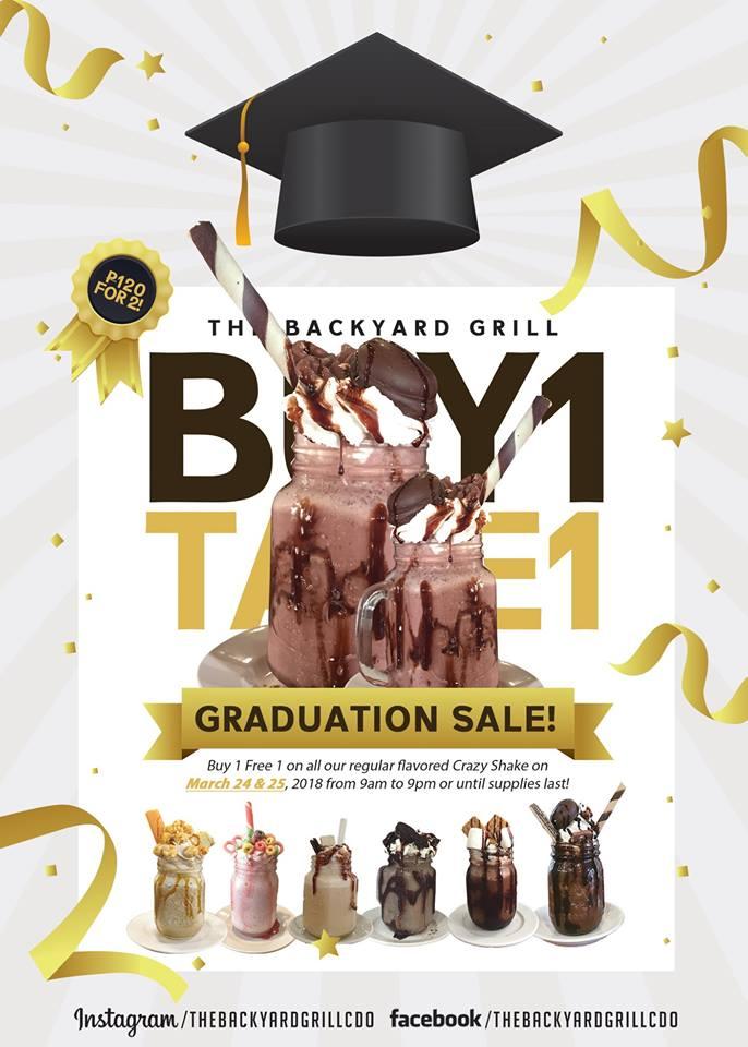 backyard grill graduation sale