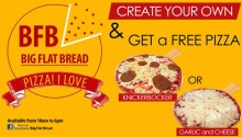 BFB create your own and get a free pizza